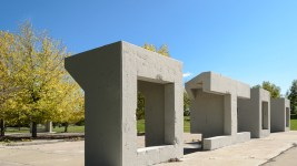 Detail of cement structures (Austin Cope/For Denverite) parks; park; Northside Park; Globeville; sal carpio
