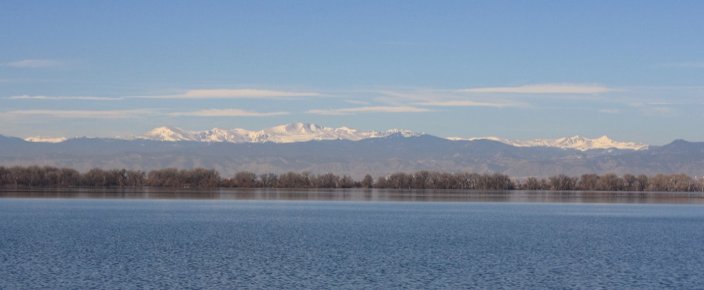 The Front Range viewed from Barr Lake. (David Herrera/Flickr/CC BY 2.0)