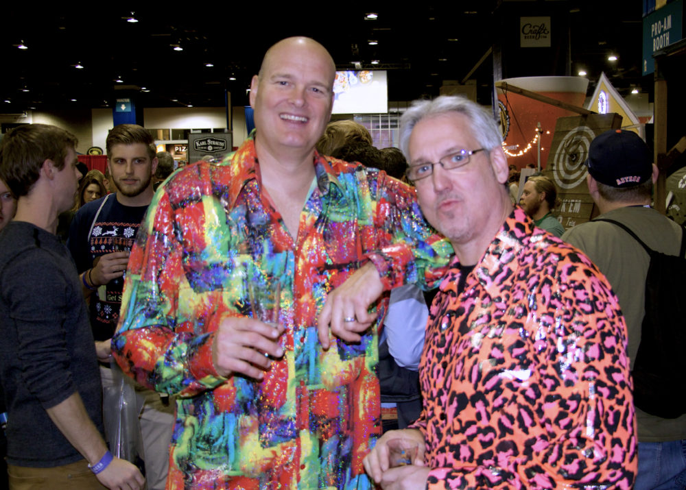 Alan Wood and Frank Geier of Rochester, New York at the Great American Beer Festival on Thursday, Oct. 5, 2017. (Paul Karolyi for Denverite)