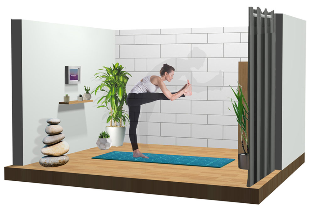 A rendering of one of Yoga on the Fly's proposed studios. (Courtesy of Yoga on the Fly)