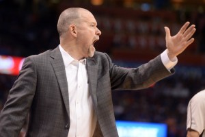 Michael Malone's Nuggets finished second-to-last in defensive efficiency last season. (Mark D. Smith/USA Today Sports)