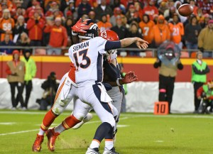 Trevor Siemian threw three awful interceptions Monday in a loss to the Chiefs. (Denny Medley/USA Today Sports)