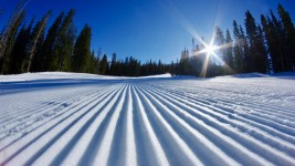 Sweet corduroy snow ahead of Loveland Ski Area's 2017 opening. (Courtesy Loveland Ski Area)