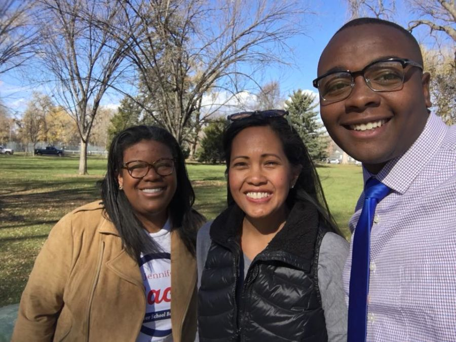 From left to right: Jennifer Bacon, Rachele Espiritu and Tay Anderson in City Park. (Courtesy of Tay Anderson)