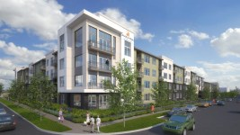 A new 230-unit service-enriched rental community for active adults age 55 and older. (Courtesy of KTGY Architecture + Planning)