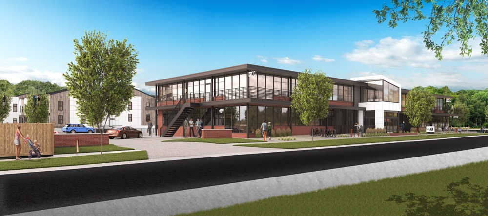 A rendering of the Forty 45 development plan in Sunnyside. (Courtesy of HM Capital)