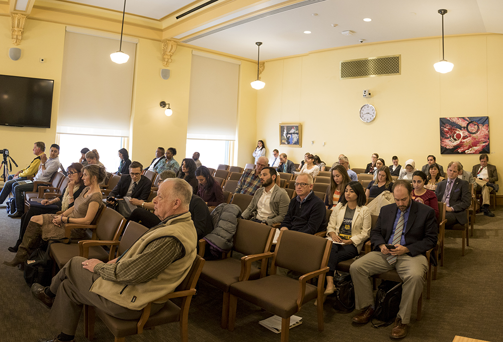 "A Colorado House Committee meeting on a bill that would allow crackdowns on ""sanctuary cities,"" March 14, 2018. (Kevin J. Beaty/Denverite)  copolitics; immigration; denver; colorado; denverite; kevinjbeaty;"