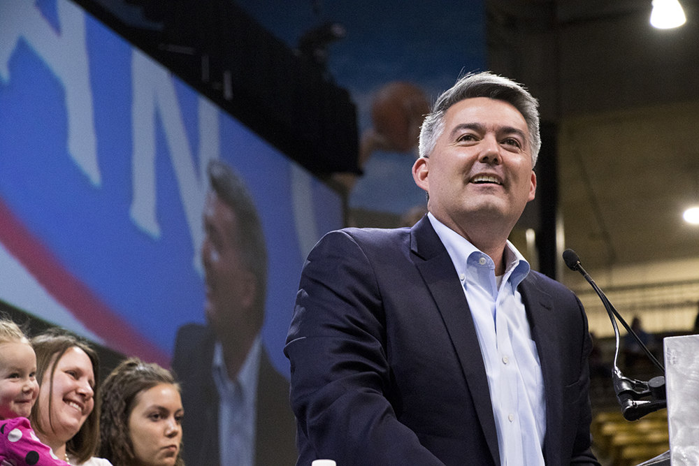 U.S. Senator Cory Gardner. The 2018 Republican State Assembly on the campus of the University of Colorado Boulder, April 14, 2018. (Kevin J. Beaty/Denverite)
