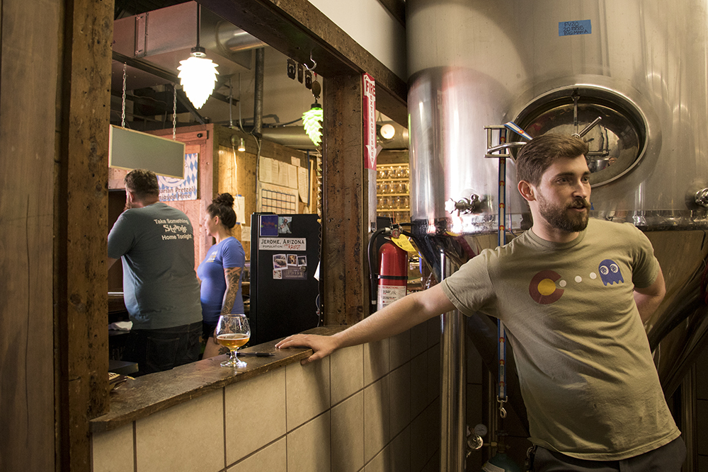 Strange Craft Beer Company, where Wit's End Brewing Company has recently moved in, May 16, 2018. (Kevin J. Beaty/Denverite)  denver; colorado; denverite; lincoln park; kevinjbeaty; brewery; nightlife; craft brewing; beer;