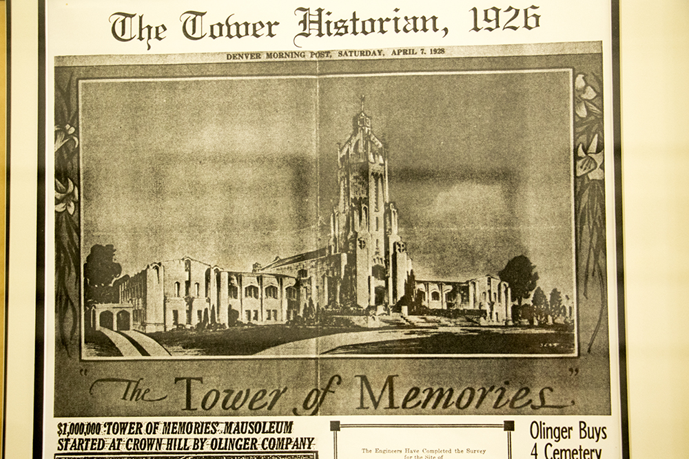 The Tower of Memories in Lakewood's Olinger Crown Hill Mortuary & Cemetery, May 23, 2018. (Andrew Kenney/Denverite)denver; colorado; denverite; kevinjbeaty; lakewood; cemetery; mausoleum;