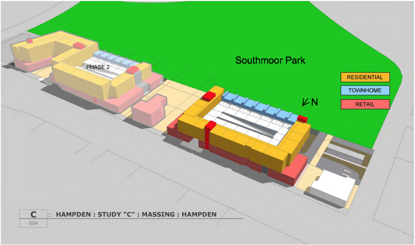 "A slide from an RNL Design study of ""Parkside"" commissioned by the city and county of Denver."
