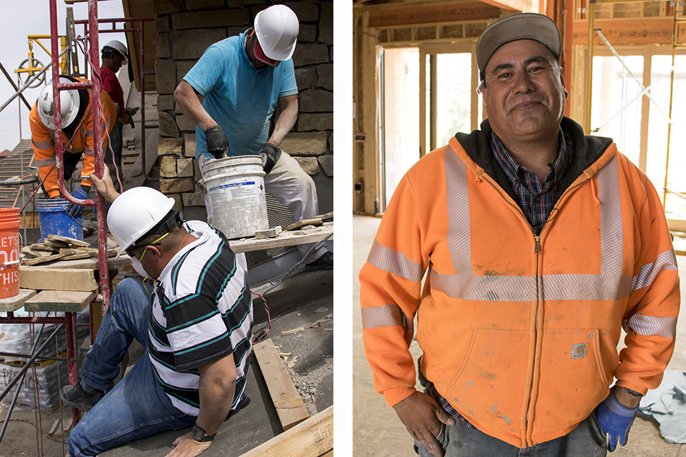 Foreman Jesse DeLatorre on a homebuilding site inside the Cherry Creek Country Club neighborhood, April 16, 2018. (Kevin J. Beaty/Denverite)