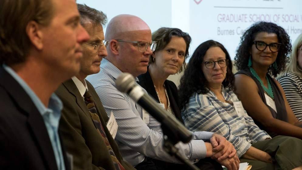 """""""A Joint Effort,"""" a discussion hosted by the University of Denver on how the cannabis industry can help end homelessness. History Colorado Center, June 21, 2018. (Kevin J. Beaty/Denverite)"""