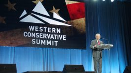 U.S. Attorney General Jeff Sessions speaks at the Western Conservative Summit at the Colorado Convention Center in Denver on Friday, June 8, 2018. (Esteban L. Hernandez/Denverite)