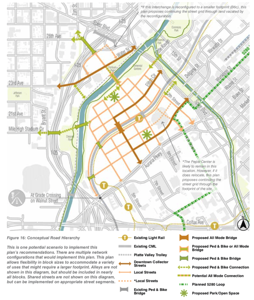 A proposed area plan for the South Platte River area. (City and County of Denver)