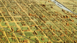 Western Denver in an illustrated 1908 map. (Library of Congress)