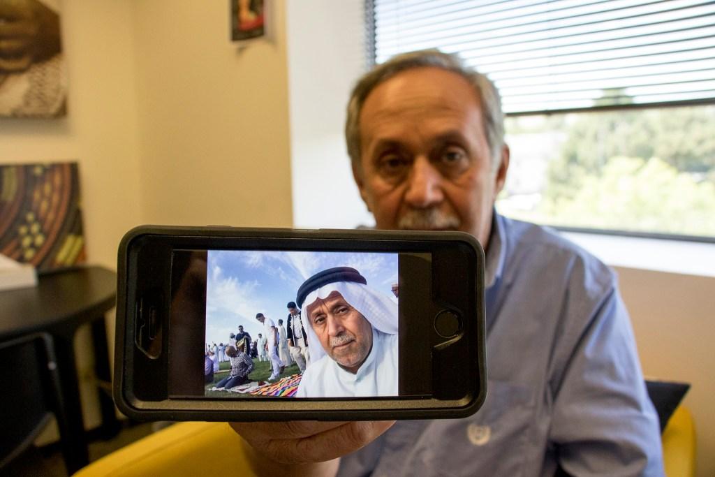 Faisal Jameel shows a selfie he took during a Muslim holiday celebration in Denver, July 19, 2018. (Kevin J. Beaty/Denverite)