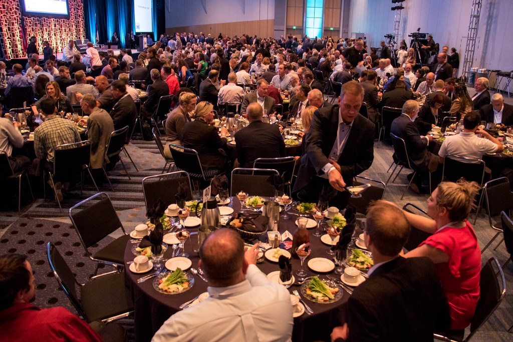 The Colorado Oil and Gas Association's annual energy summit at the Colorado Convention Center, Aug. 22, 2018. (Kevin J. Beaty/Denverite)