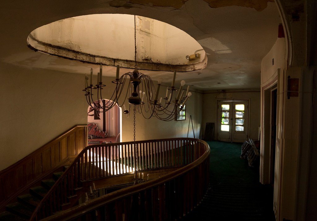 Inside a historic home on East Colfax Avenue that was later used as a fur garment shop, Sept. 14, 2018. (Kevin J. Beaty/Denverite)