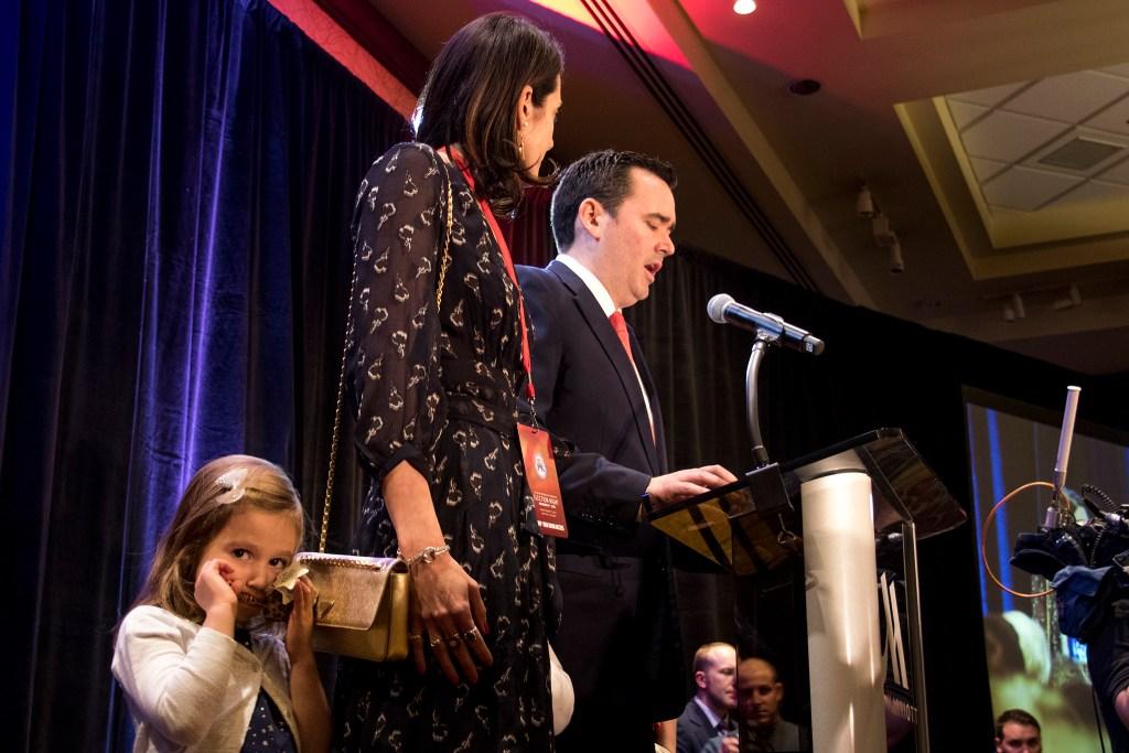 Walker Stapleton makes a concessions speech at the Colorado Republicans' election day party, Nov. 6, 2018. (Kevin J. Beaty/Denverite)