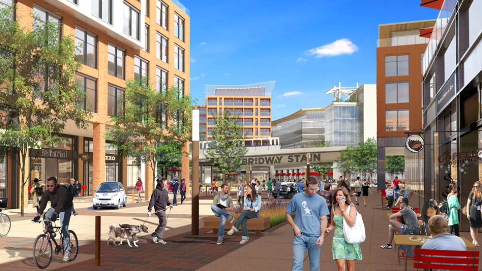 "A rendering depicting the vision for the ""midtown"" district on South Broadway. (Broadway Station Partners)"