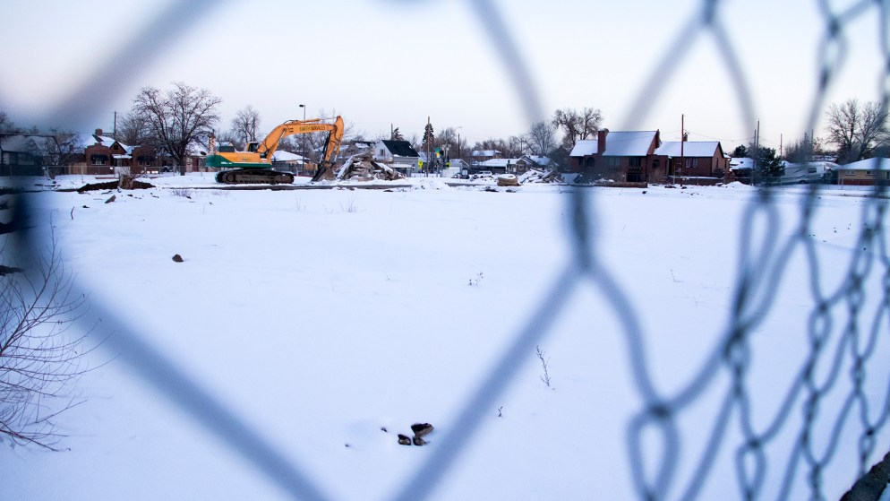 The future site of affordable housing in Cole, Jan. 29, 2019. (Kevin J. Beaty/Denverite)