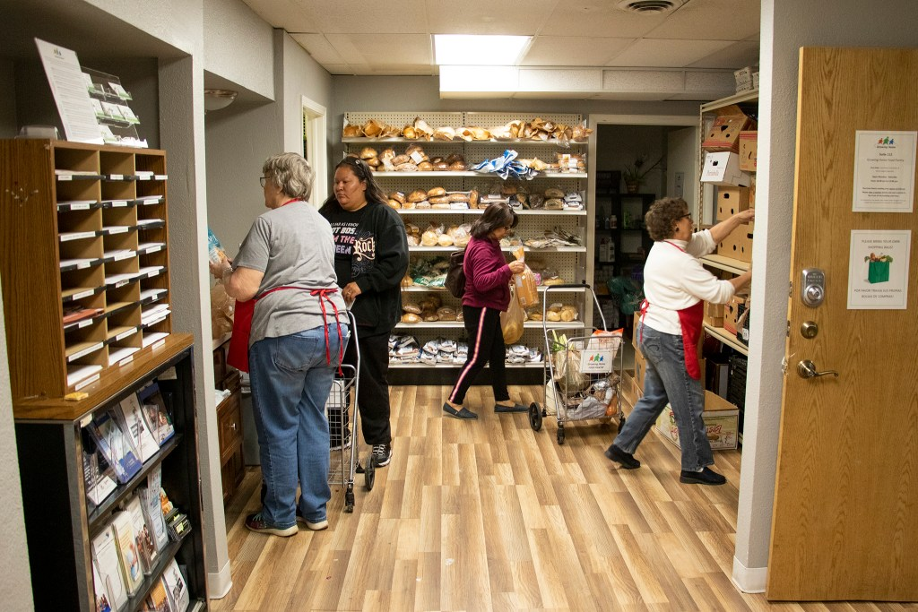 Growing Home food pantry, Westminster, April 3, 2019. (Kevin J. Beaty/Denverite)