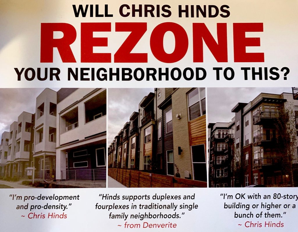 A flyer mailed to District 10 voters by Wayne New's campaign.