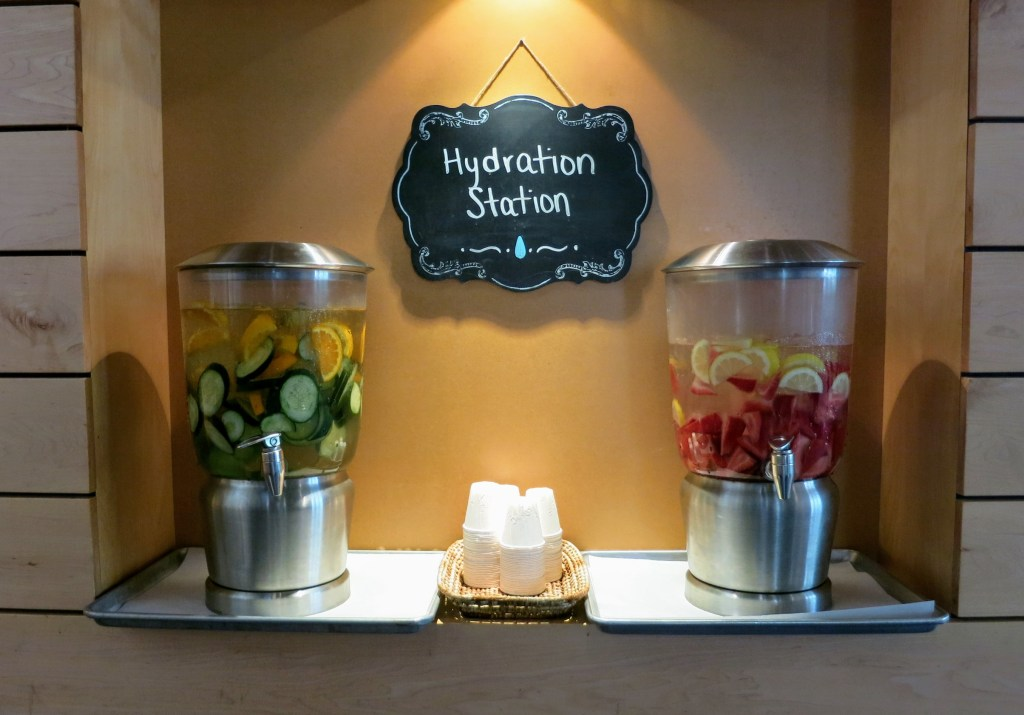 Staying hydrated is colorful business at Clayton Early Learning. June 14, 2019. (Donna Bryson/Denverite)