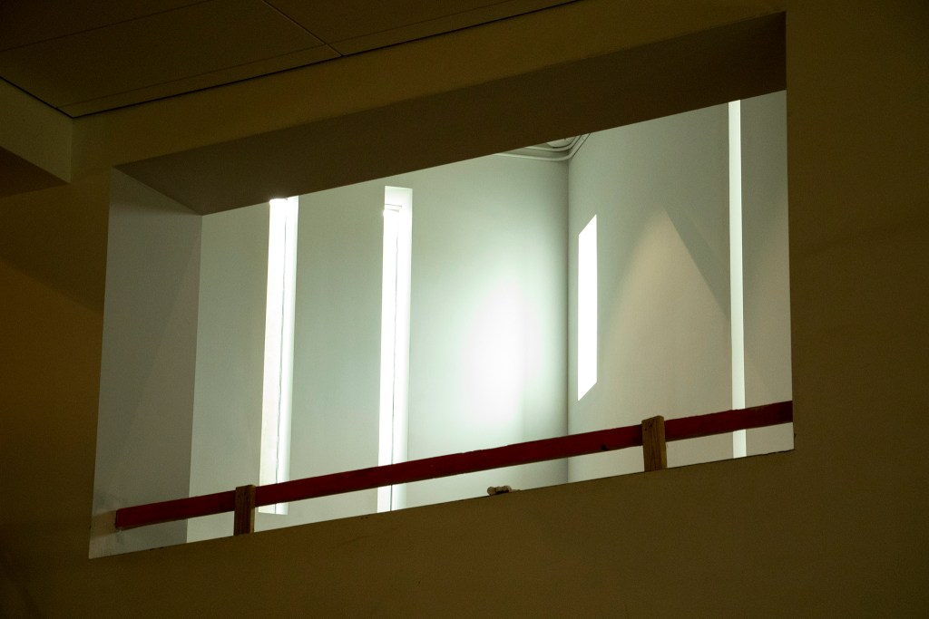 A peek upstairs into the Denver Art Museum's new Martin Building, Aug. 8, 2019. (Kevin J. Beaty/Denverite)