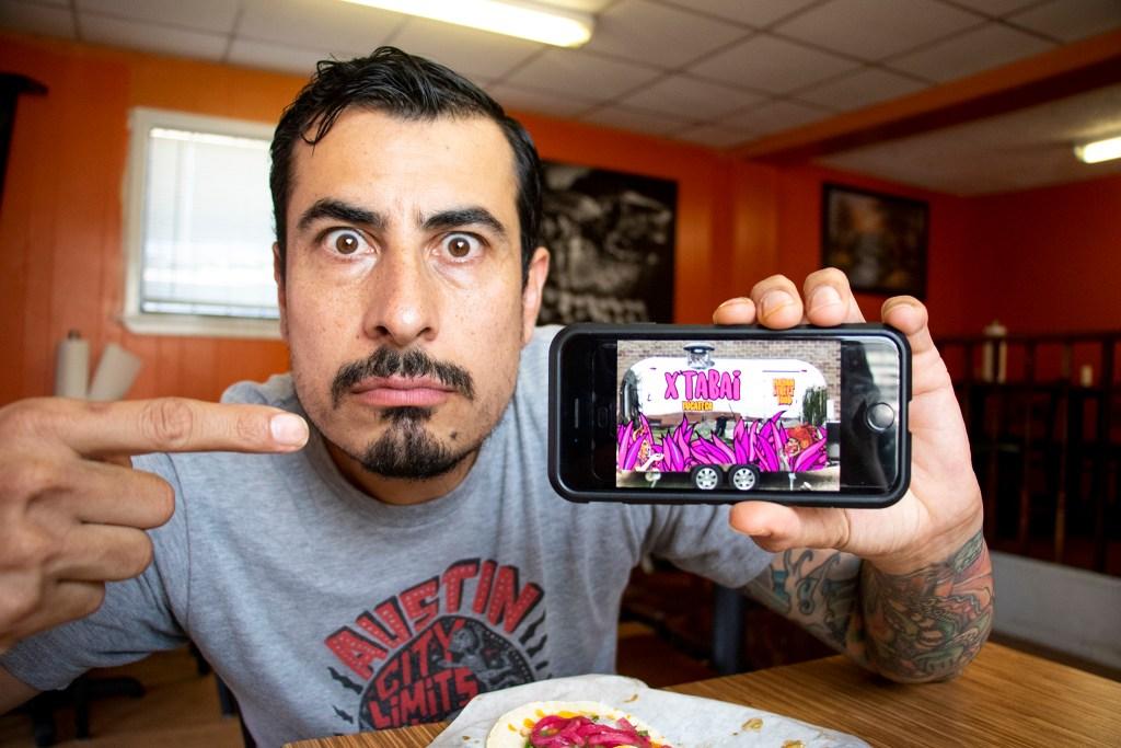 Chef Jose Avila shows off his new street food trailer. Sept. 10, 2019. (Kevin J. Beaty/Denverite)