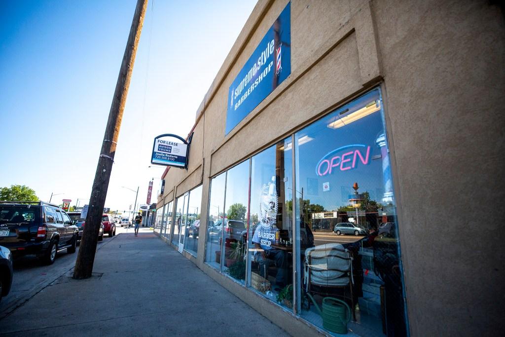 Supreme Style Barbershop on East Colfax Avenue, Sept. 25, 2019. (Kevin J. Beaty/Denverite)