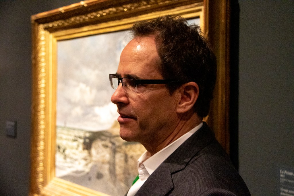 "Christoph Heinrich, the Denver Art Museum's Frederick and Jan Mayer Director, discusses ""Claude Monet: The Truth of Nature,"" the museum's new exhibit. Oct. 17, 2019. (Kevin J. Beaty/Denverite)"
