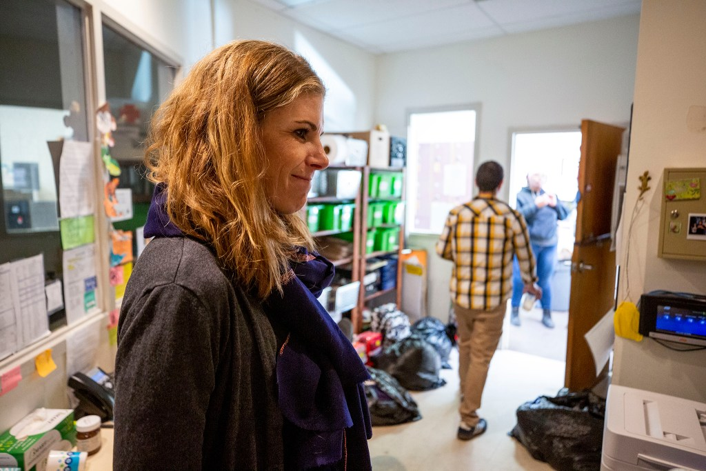 Urban Peak CEO Christina Carlson speaks to a reporter inside her Overland youth shelter, Oct. 24, 2019. (Kevin J. Beaty/Denverite)