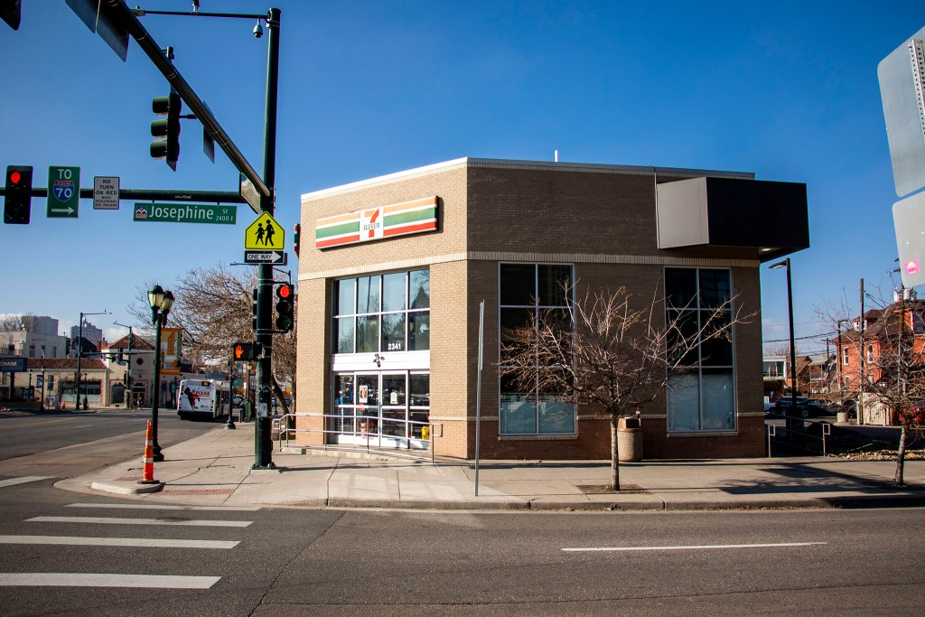 A 7-Eleven at Colfax Avenue and Josephine Street. Dec. 26, 2019. (Kevin J. Beaty/Denverite)