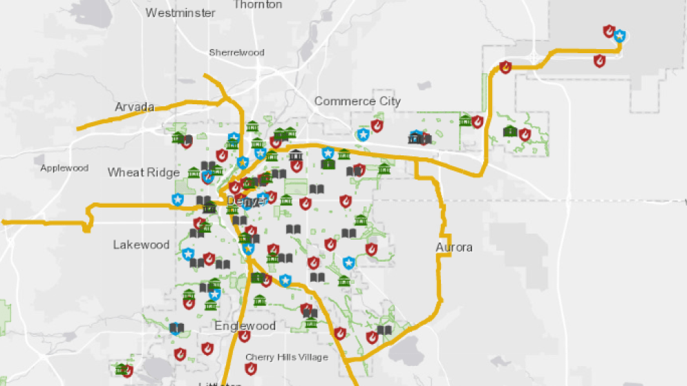 A screenshot of the CARMA map. (Courtesy, Denver Department of Public Safety)