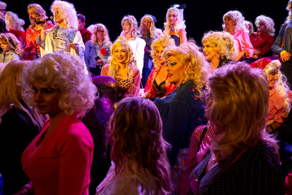 All the Dollys gather for Dolly Day Denver's official count, which will be submitted to Guinness for consideration as a world record, Jan. 26, 2020. (Kevin J. Beaty/Denverite)