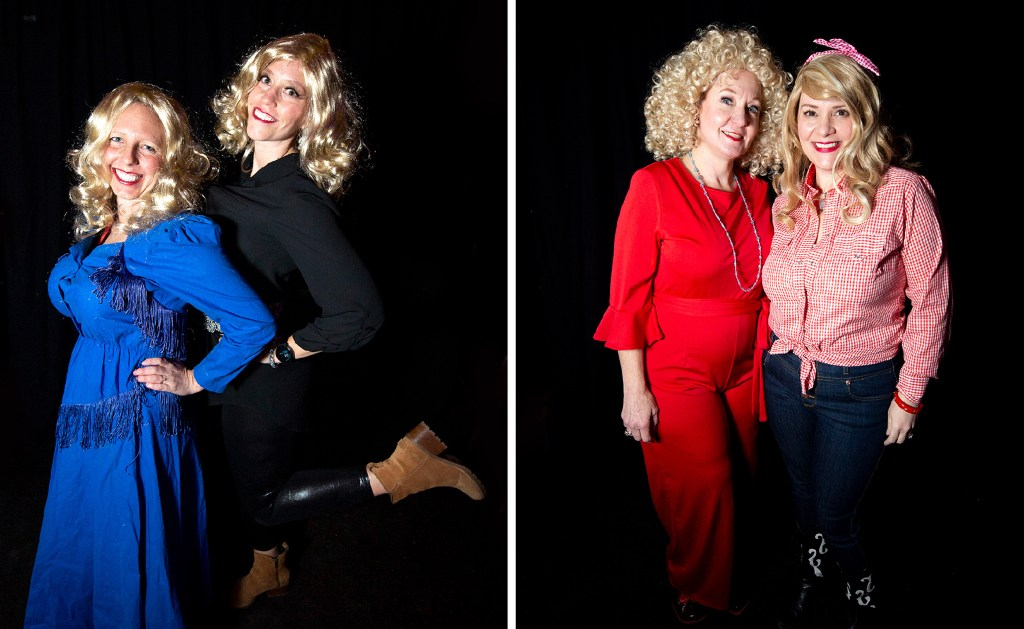 Erica Garroutte and Kari Lynn and Stephanie Evan and Tiffany Fodor. Dolly Day Denver, Jan. 26, 2020. (Kevin J. Beaty/Denverite)