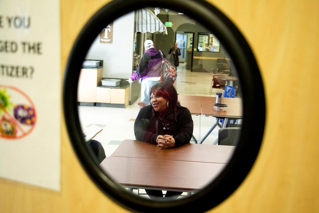 Leila Howard speaks to a reporter inside the Mental Health Center of Denver, Jan. 7, 2020. (Kevin J. Beaty/Denverite)