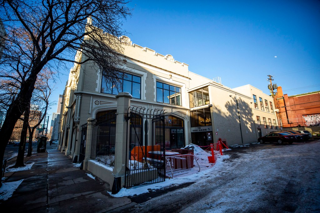 The Dodge Building in Capitol Hill, the future home of Westword. Feb. 5, 2020. (Kevin J. Beaty/Denverite)