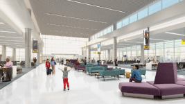 A rendering of new waiting areas to go along with new gates for Southwest Airlines in Terminal C at DIA. (Courtesy, Denver International Airport)