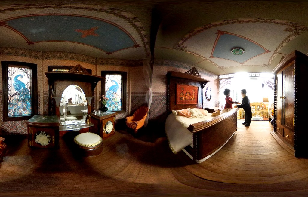 Inside a doll house built by Mariana C. Wilkinson, part of the Denver Museum of Miniatures, Toys and Dolls' collection in Lakewood. July 28, 2020.