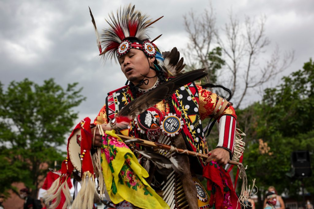 The 'Rise Up' rally on July 4, 2020, in Denver started with a dance performance