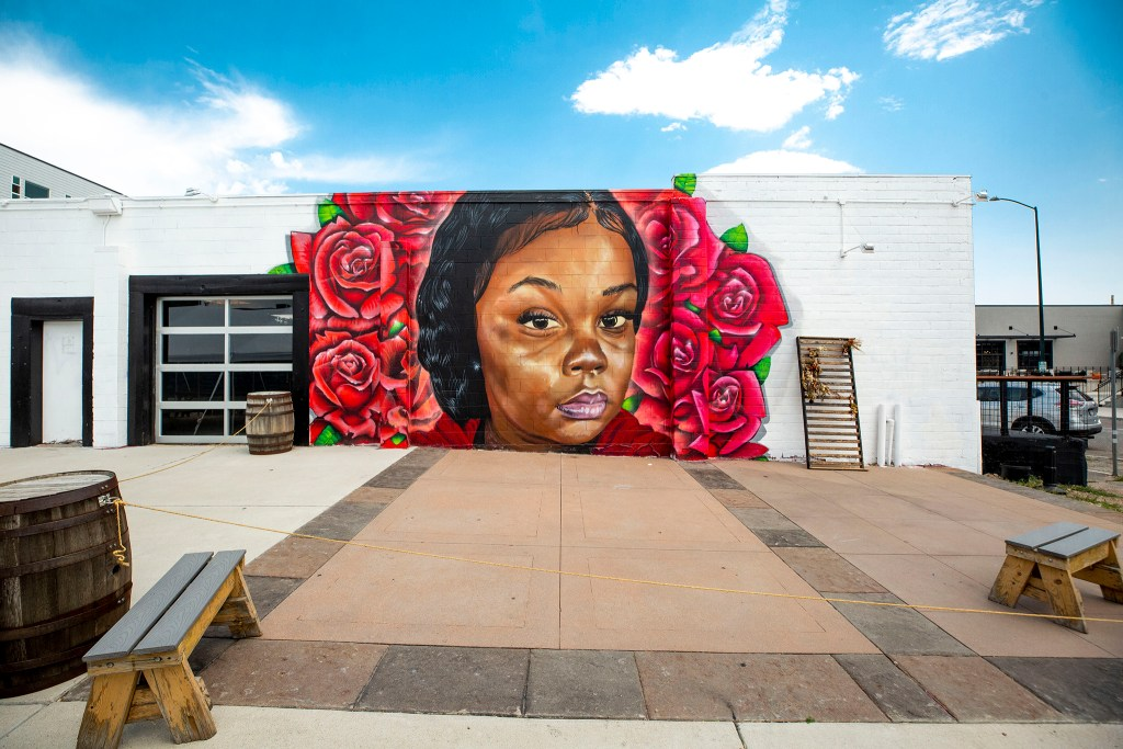 A mural of Breonna Taylor by Detour, Hiero Veiga and Just at 2811 Walnut St. in Five Points. Aug. 5, 2020.