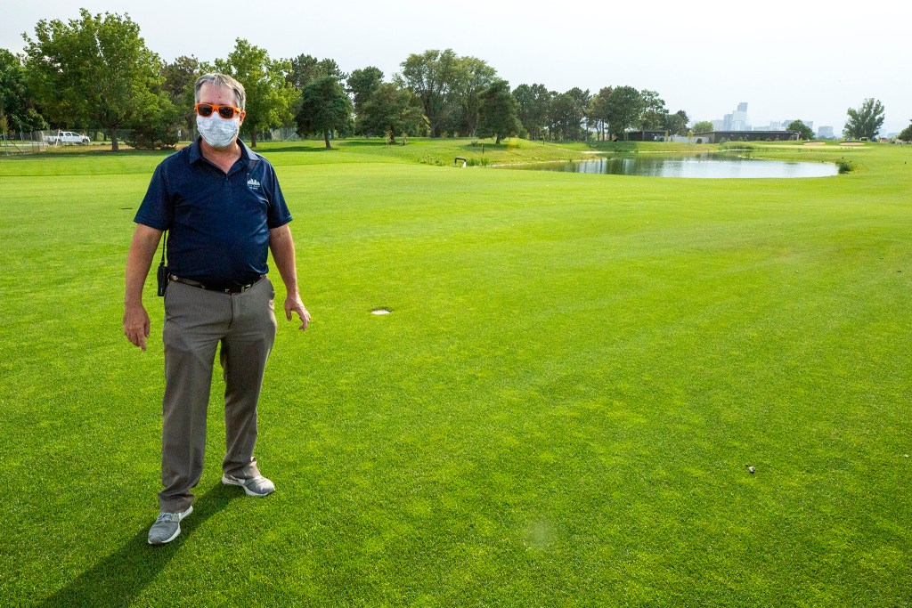Scott Rethlake, Denver's director of golf, gives a tour of the newly revamped City Park Golf Course. Aug. 20, 2020.