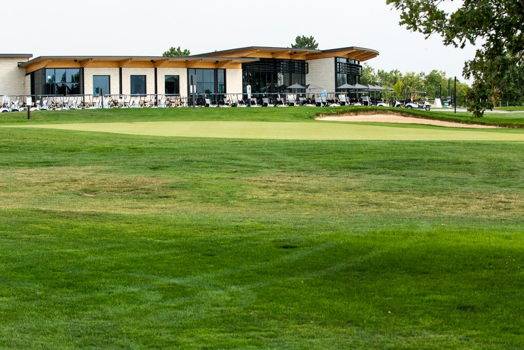 The clubhouse at the newly revamped City Park Golf Course. Aug. 20, 2020.