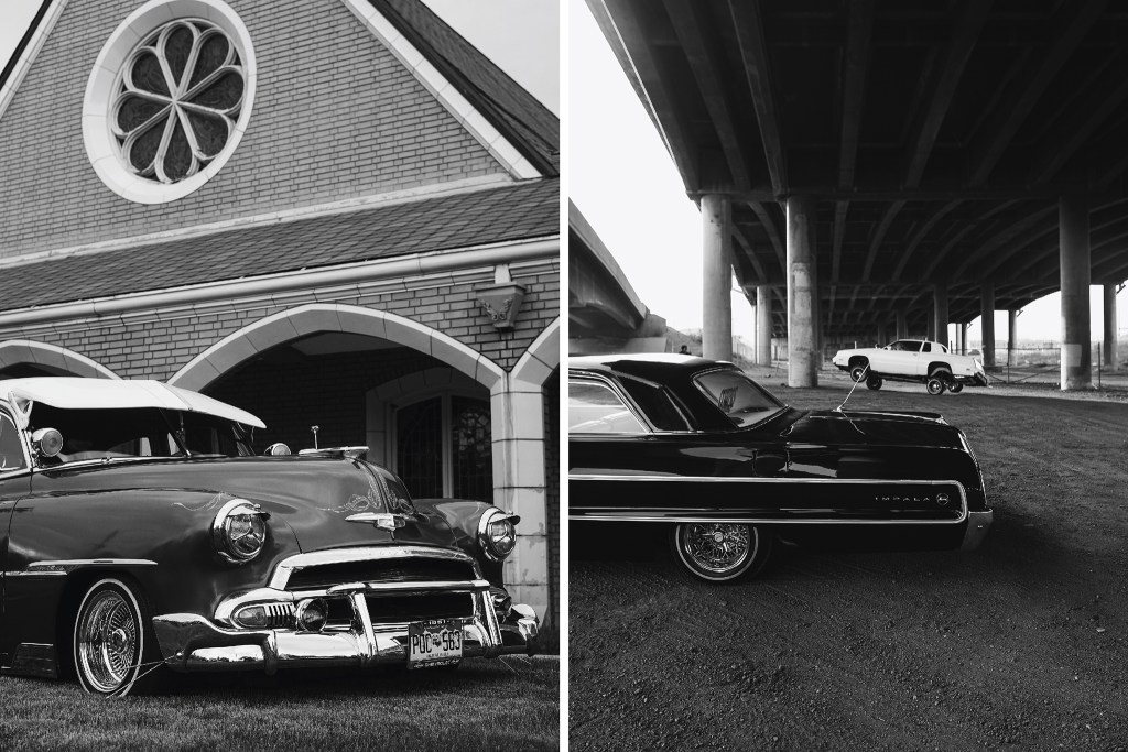 NOT FOR GENERAL USE  Cars in front of the Olinger Moore Howard Chapel (left) on June 8, 2019 and beneath the I-70 viaduct on Jan. 31, 2018.