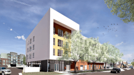 A rendering of an affordable housing project coming to Baker. (Department of Housing Stability)