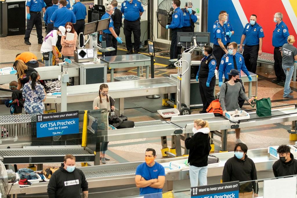 The TSA checkpoint at Denver International Airport. Nov, 21, 2020.