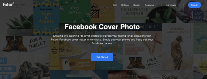 Fotor Facebook Cover Photo Maker and Template